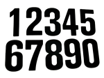 Vinyl Number Stickers - 6