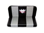 Double Vinyl Seat with Gray Stripes & Yerf-Dog Logo