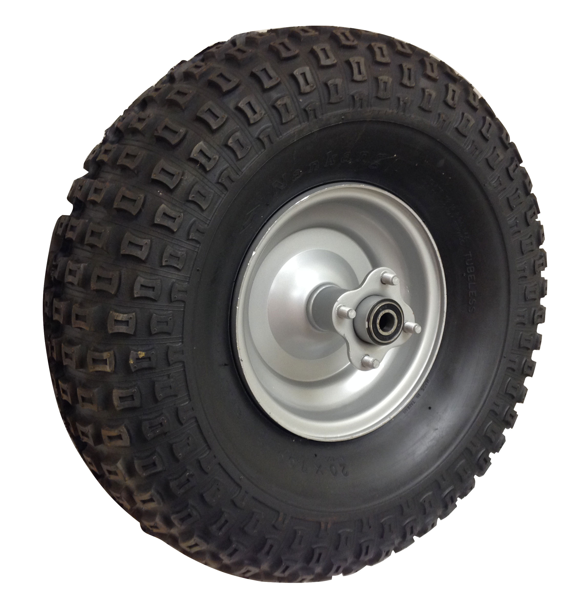 Mini Bike With Atv Tires : Knobby tire with rim for mini bike rear