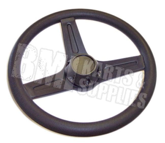 "13"" Steering Wheel w Cap for Go Kart Fun Cart Yerf Dog Manco Carter Bros Kartco"