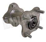Dual Flanged Galvanized Wheel Hub with (4) 5/16