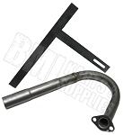 Exhaust Header Pipe & Brace for Honda or Clone Engine