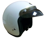 ---No Longer Avaialble--- White Open-Face Helmet - Medium (adult)