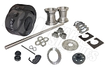 Drift Trike 1-1/4'' Tubular Axle Kit with Tires, Rims & Clutch (#40 Chain)
