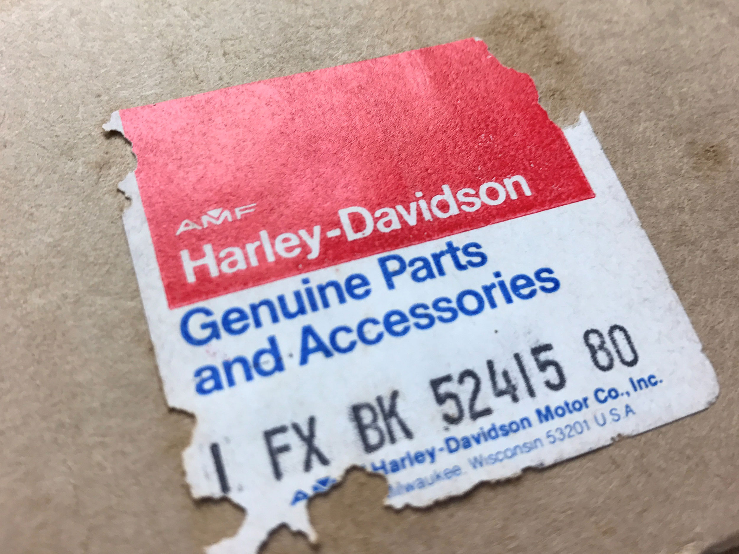Genuine Harley Davidson Black Backrest For Fx Series