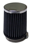Tapered Chrome Fabric Air Filter, 2-7/16