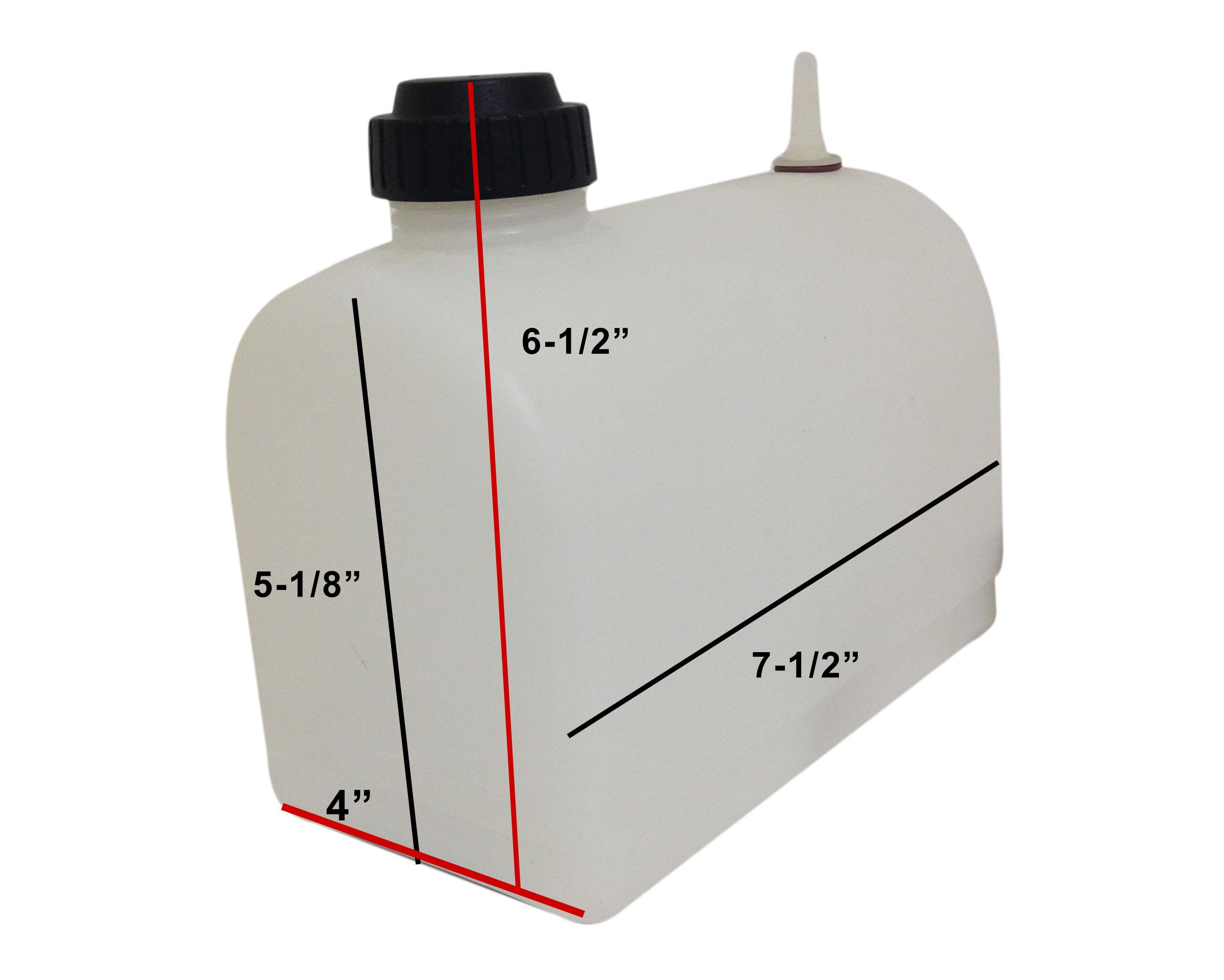 G Man Plastic Fuel Tank 2 Quart Mailbox 660018 Jc