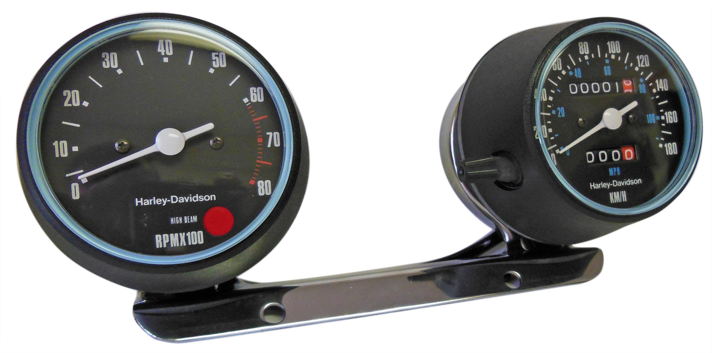 genuine harley davidson tachometer   speedometer km  h for