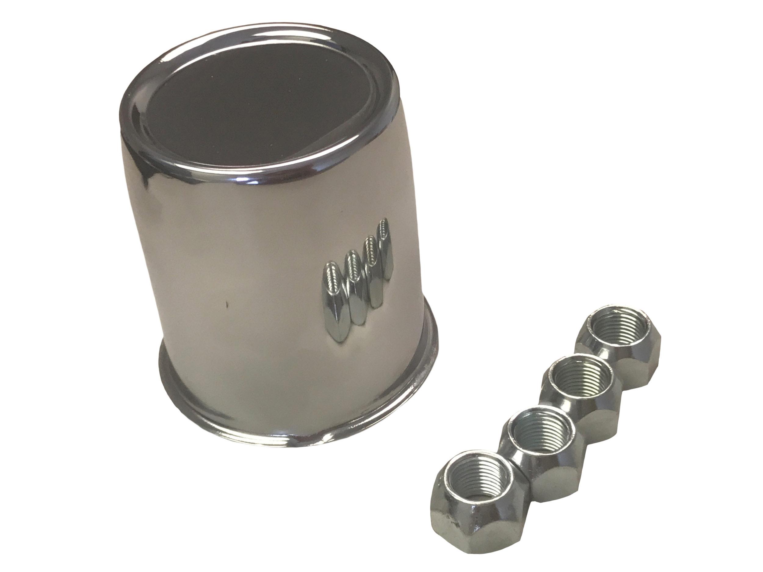 Axle Cover Trim Kit Chrome Center Cap With Chrome Lug
