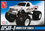 USA-1 4x4 Monster Truck (1/32 Scale) Snap Model from AMT #672
