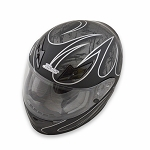 Zamp FS-8 Helmet - Black / Silver Graphic