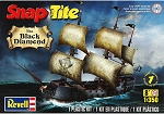 Black Diamond Pirate Ship (1/350 Scale) SnapTite Boat from Revell Models #851971