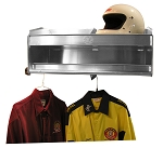 Deluxe 2 Bay Helmet Shelf with Garment Rack