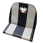 High Back Double Vinyl Seat with Gray Stripes & Yerf-Logo