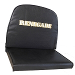 High Back Double Vinyl Seat with Renegade Logo