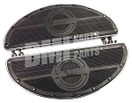 Harley Style Chrome Plated Rubber Padded Footboard Set