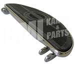 Harley Style Chrome Plated Rubber Padded Footboard