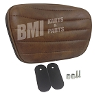 Backrest Seat Pad for Harley-Davidson Comfort Flex Seat (Brown with Wide Stitch)