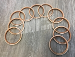 Set of 10, Copper Ring Exhaust Gasket for Harley-Davidson Big Twins (1966-85)