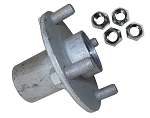 4 x4 Steel Wheel Hub for Taper Roller Bearing- With Lug Nuts