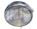 Chrome Sidemount Headlamp - 6 Volt