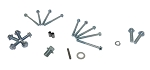 Screw and Key Kit for 2:1 Reduction Gearbox for Honda 6.5HP GX200 Engine