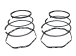 Set of Two Piston Ring Sets (Chromed Top Ring, Single Oil Piece) For Harley-Davidson Sportster Ironhead 1000cc (1972+)