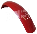 Red Plastic Motorcycle Fender