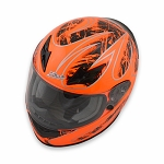 Zamp FS-8 Helmet - Orange / Black Graphic