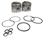 TRW Forged Piston Kit, Complete with Rings, Pin & Locks for Harley-Davidson Overhead Valve Big Twin 74