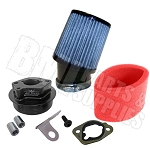 Airspeed II Clone Adapter (2nd Generation), Air Filter & Pre-Filter Complete Kit for 6.5 HP Clone / GX 160 or GX200 Engine