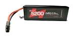5200mAh 7.4V 2S 30C LiPo Battery with Hardwired TRX Connector