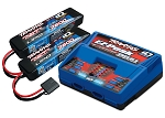 Battery & Charger Combo Pack, Includes 2972 Dual iD Charger & (2) 2869X 7600mAh 7.4V 25C LiPo Batts