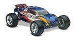 Rustler 1/10 Stadium Truck Blue, RTR W/iD Battery & 4 Amp Peak DC Charger