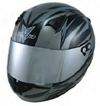 KJ2 Youth Vega Karting Helmet - Black Drift