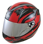 KJ2 Youth Vega Karting Helmet -Red Drift