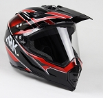 Adult Off Road Helmet with Face Shield (Red)
