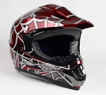 Off Road Youth Helmet (Spider/Red)