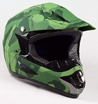 Off Road Youth Helmet (Army/Green Matte)