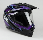 Adult Off Road Helmet  with Face Shield (Blue)