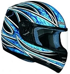 Blue Graphic Vega Trak Karting Helmet