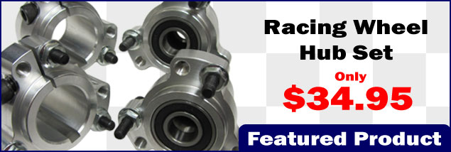 Lightened Aluminum Racing Wheel Hub Set (Front and Rear)