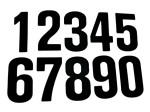 Vinyl Number Stickers