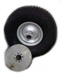 20 x 7-8 Knobby Tire with Rim & Sprocket for Mini Bike (Rear)