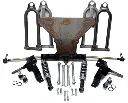 "Complete Front End with Spindles for Yerf-Dog (Designed for 5/8"" bolt)"
