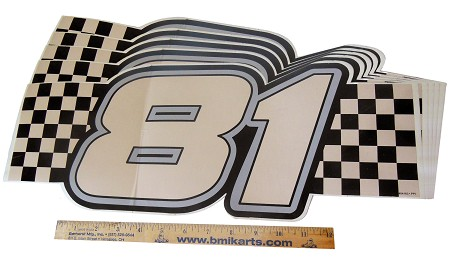 Checkered #81 (Decal) - Set of 5