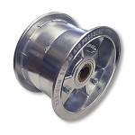 "6"" Aluminum Wheel, 4"" wide, 1"" to 3/4"" Step Live Axle (Rear)"