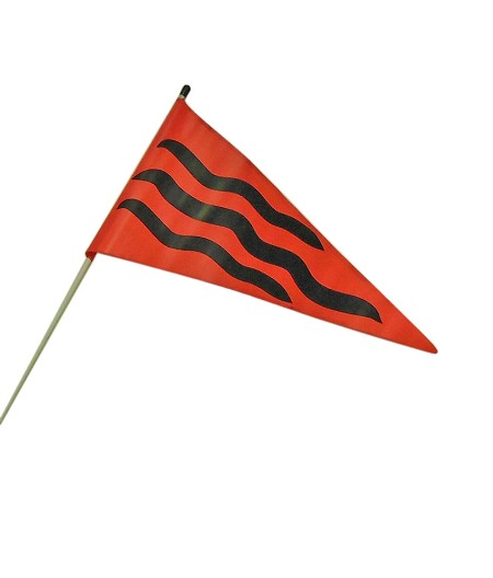 ---No Longer Available--- Striped Safety Flag for Go Kart