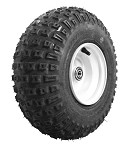 145/70-6 Carlisle Knobby Tire with Rim (Front) - White