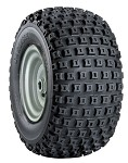 "18 x 9.50-8 Knobby Tire with Rim (1"" Bore)"